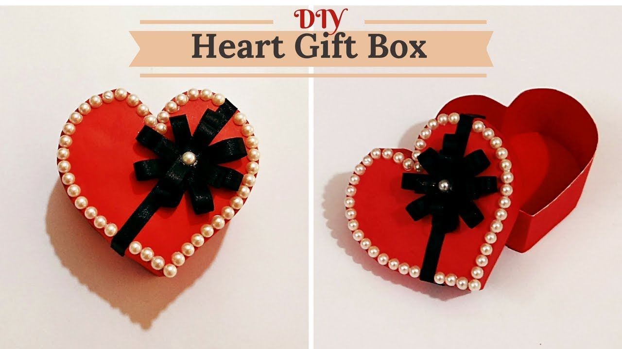 How To Make Heart Love Shape Gift Box For Valentine Birthday
