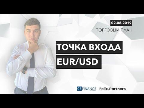 02.08.2019. Точка входа EUR/USD | Феликс Хогоев | Форекс | Трейдинг в открытую