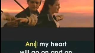 CELINE DION my heart will go on karaoke