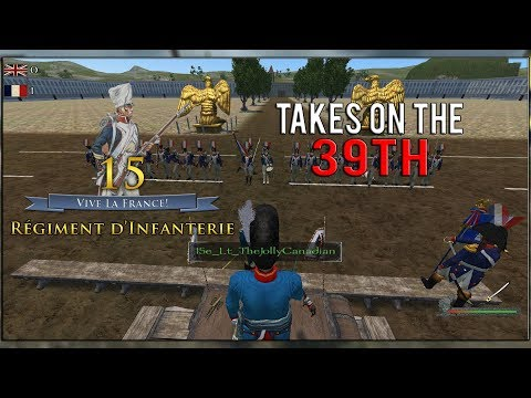 Mount and Blade Warband: Napoleonic Wars 1v1 Linebattle: 15e vs 39th