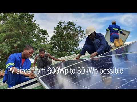 Solar power for Malawi health station