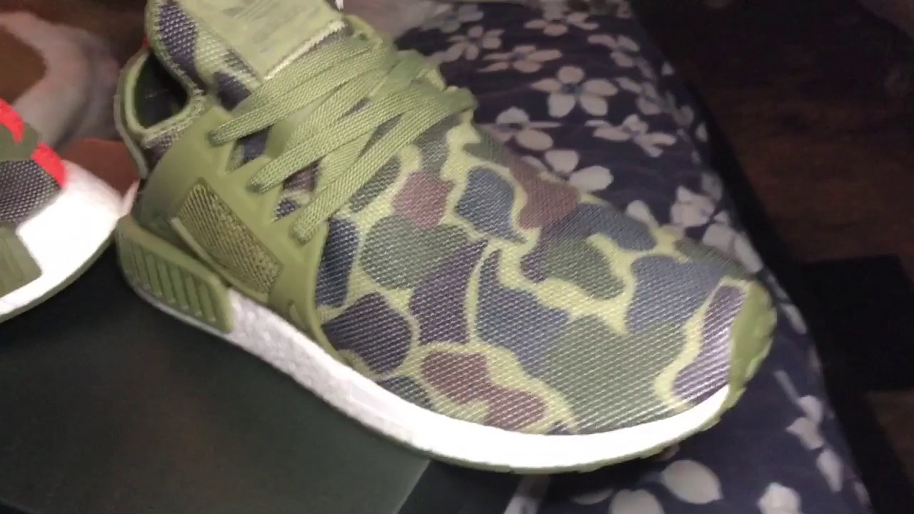 detailed look 9b28e 93252 Adidas Nmd Duck Camo XR1 (army green)New)UnboxOn  feet