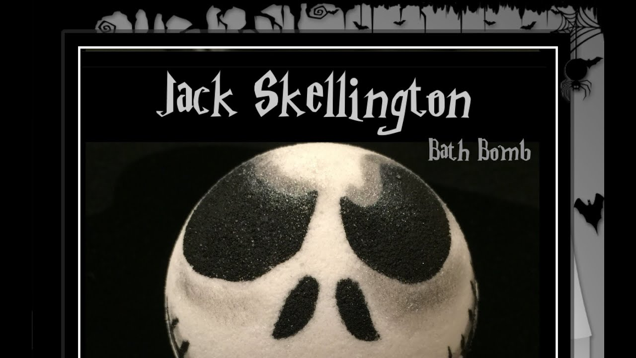 Jack skellington bathroom set - Artisanbath Indulgences Jack Skellington Bath Bomb Demo