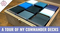 A Quick Tour of My Personal Commander Decks | EDH | Collection | Magic the Gathering | Commander