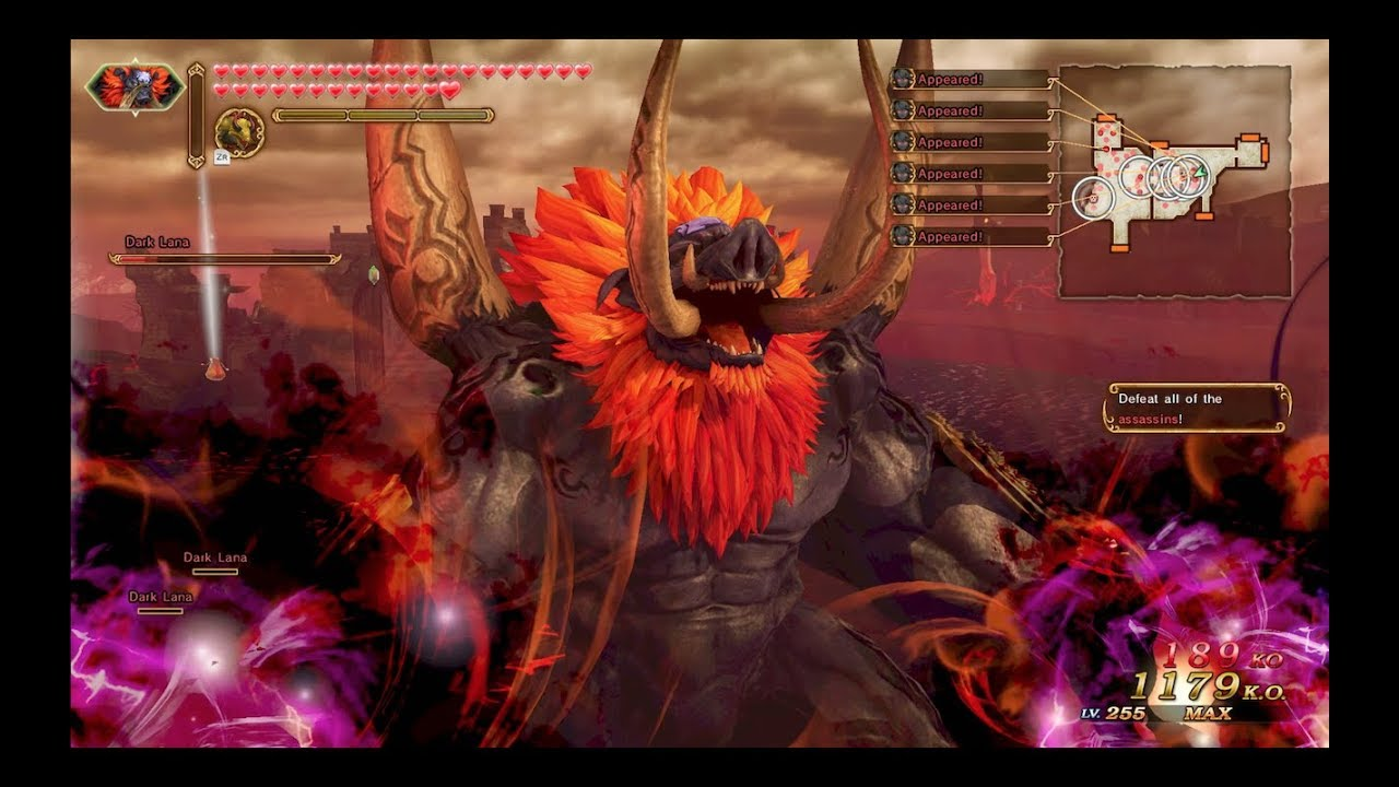 Hyrule Warriors Definitive Edition Dark Beast Ganon Gameplay Survival Battle Lv 3 Youtube