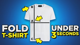 T-Shirt Folding HACKS | Fold Shirt In Under 3 Seconds? | 4 Ways To Fold Tee