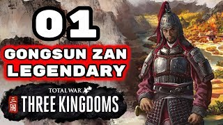 Total War Three Kingdoms  Legendary Gongsun Zan Campaign  Romance  Episode 1