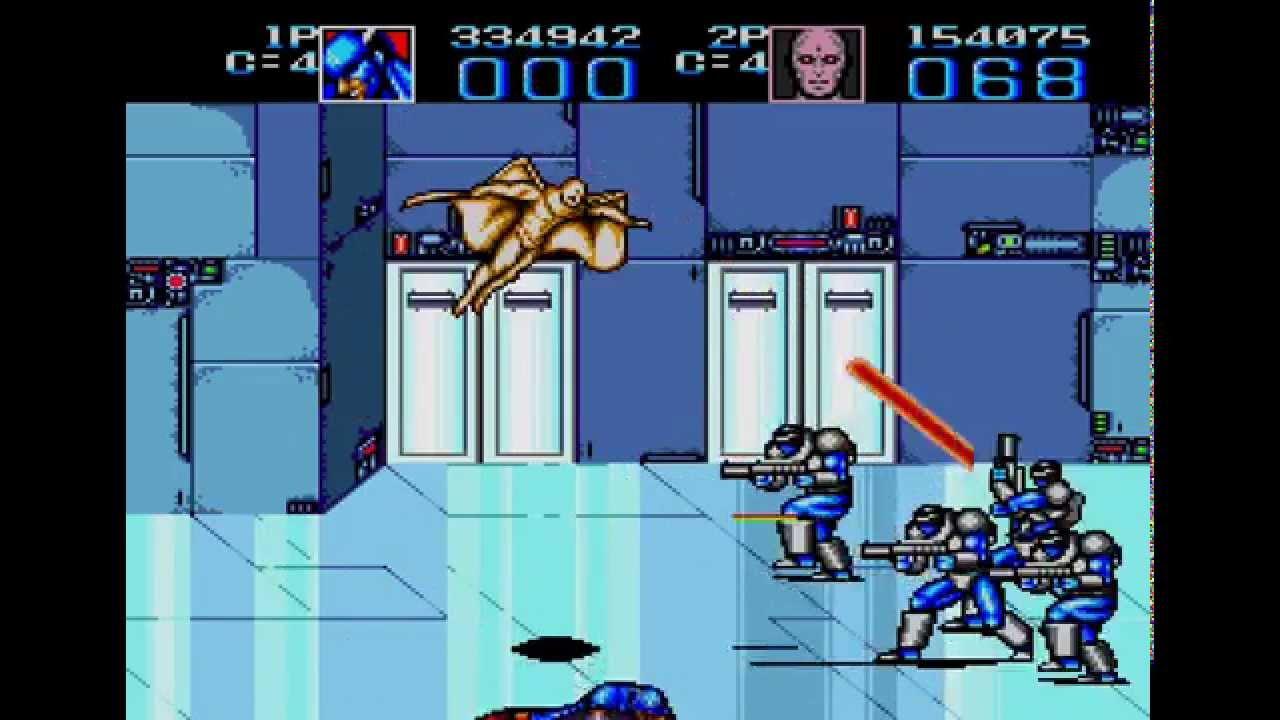 Captain America and The Avengers Sega Genesis 2 player game