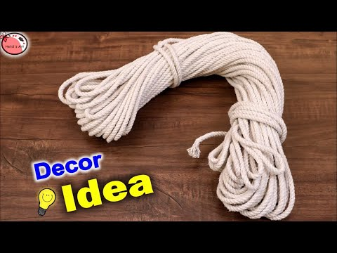 Wall Decor Craft Idea 👉 Rope 👈 || Wall hanging Showpiece Making at Home || DIY Home Decor Craft