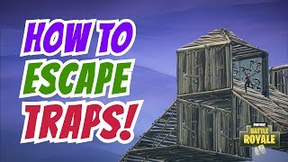 How to Escape Being Trap Killed | Recover from Cones - (Fortnite Battle Royale)