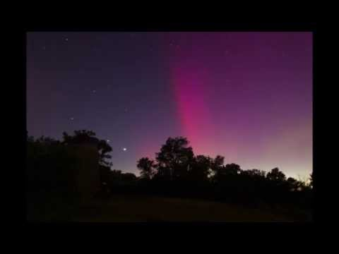 Tent camping at Minneopa State Park Mankato Minnesota Aurora Northern Lights