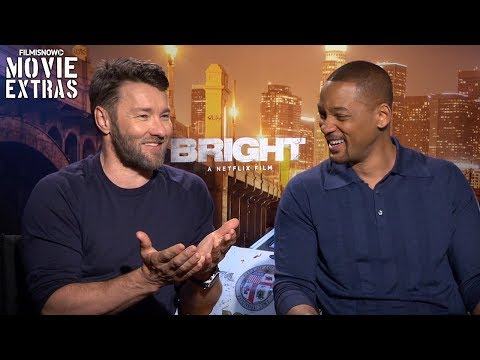 Bright 2017 Will Smith & Joel Edgerton talk about their experience making the movie