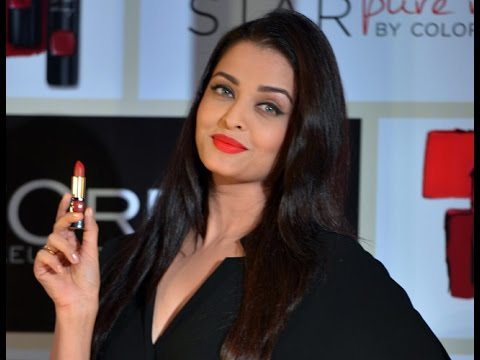 Aishwarya Unveils New Red Lipstick by L'Oreal Paris - BT ...