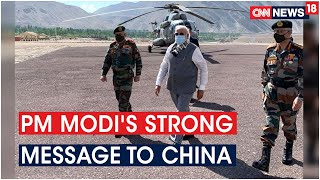 PM Modi Sends Strong Message To China, Visits Leh & Interacts With The Soldiers | CNN News18