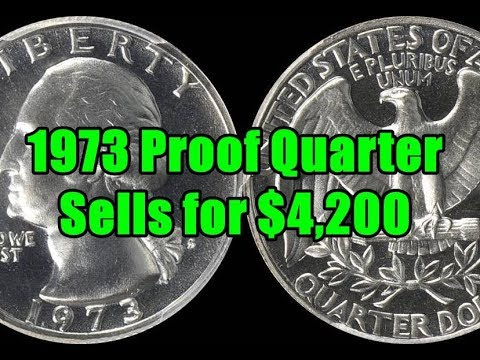 1973 Washington Quarter Sells Huge for $4200 - One You Don't See Everyday!