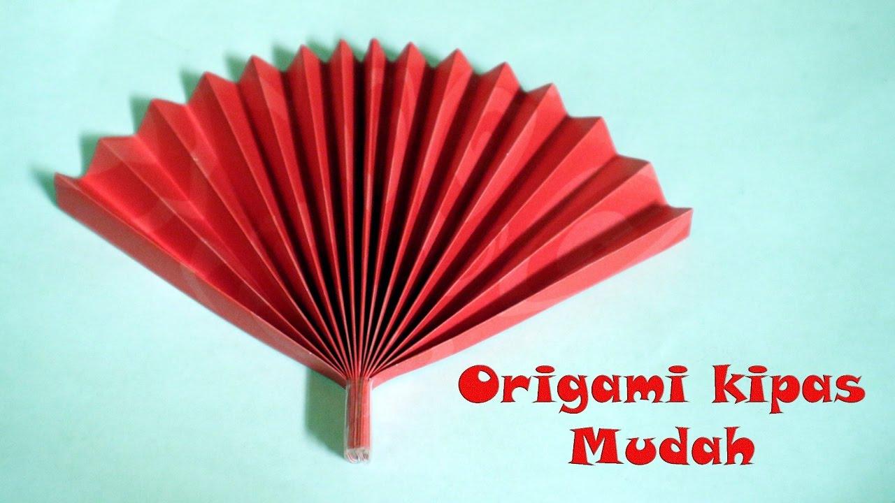 Cara Membuat Origami Kipas Angin Mudah Youtube