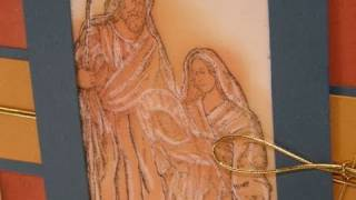 Stampin Up Pressed Vellum Holy Family Card