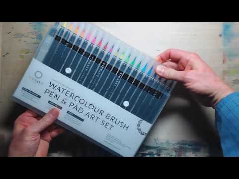 Watercolour Pen Review - Vibrant Jungle (This is not a demo or tutorial)