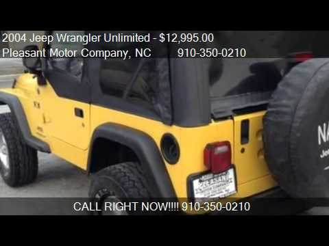 2004 jeep wrangler unlimited x for sale in wilmington nc. Black Bedroom Furniture Sets. Home Design Ideas