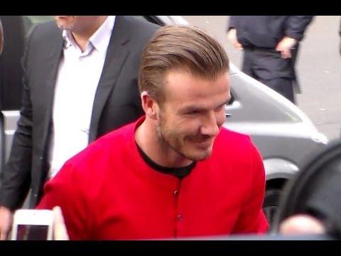 David Beckham PSG à Paris Boulevard Haussmann vendredi 24 mai 2013