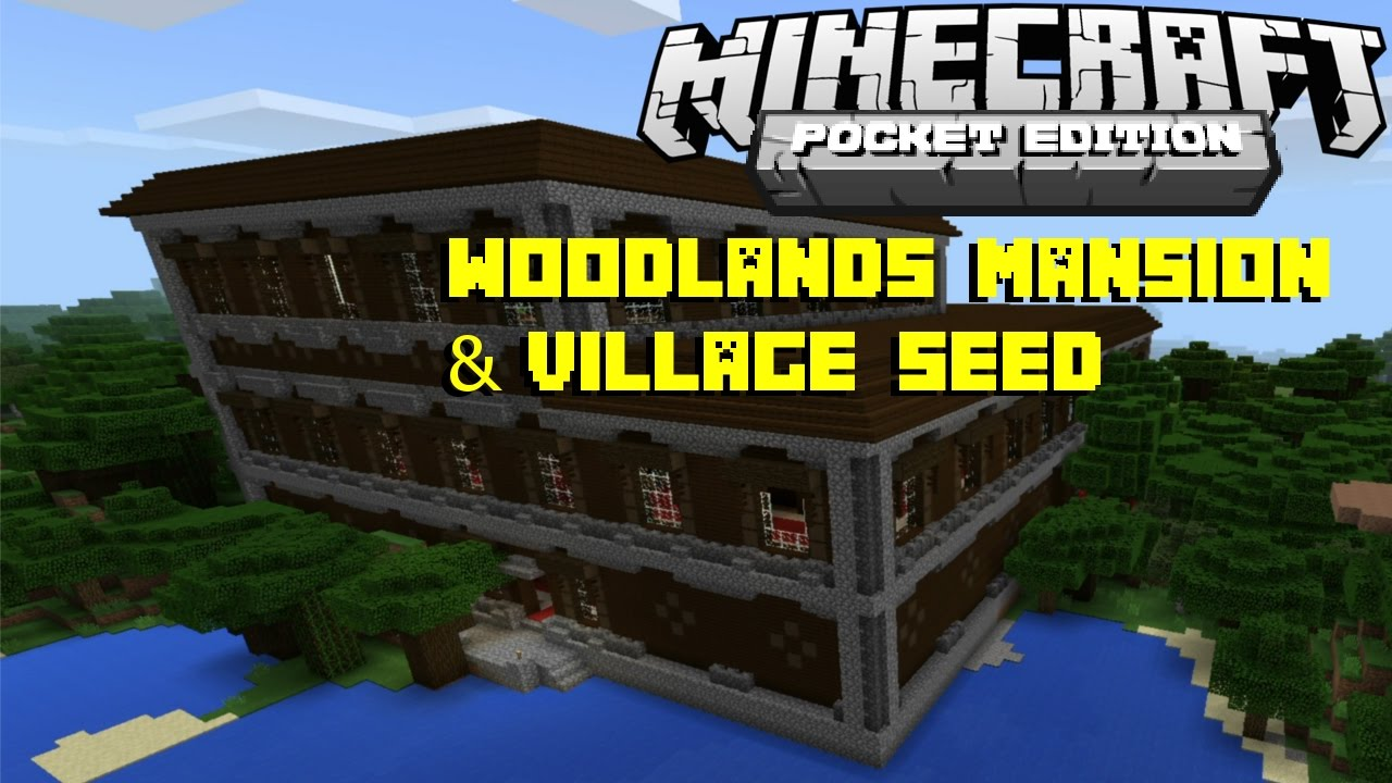 minecraft pe seeds mansion 2018
