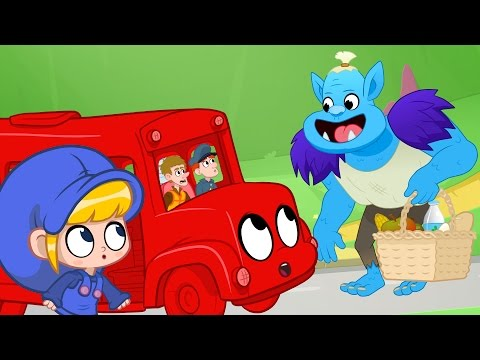 Morphle becomes a Bus - Vehicle adventures for kids (Policecar, Helicopter, Digger, Firetruck)