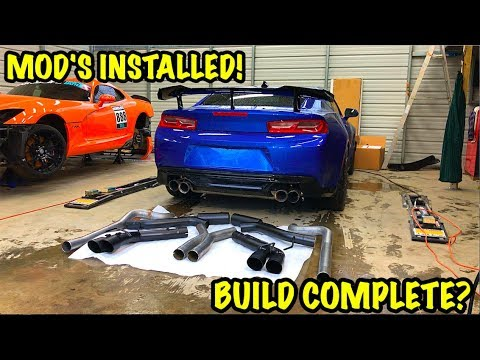 Rebuilding A Wrecked 2018 Camaro ZL1 Part 20