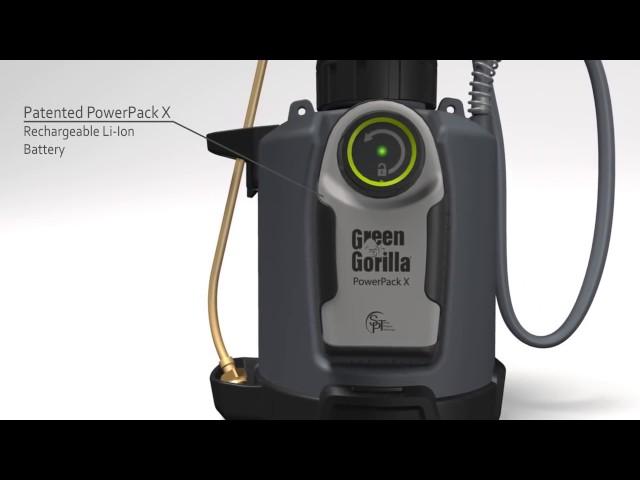 Green Gorilla ProLine Vi Pro System, Battery powered electric sprayer