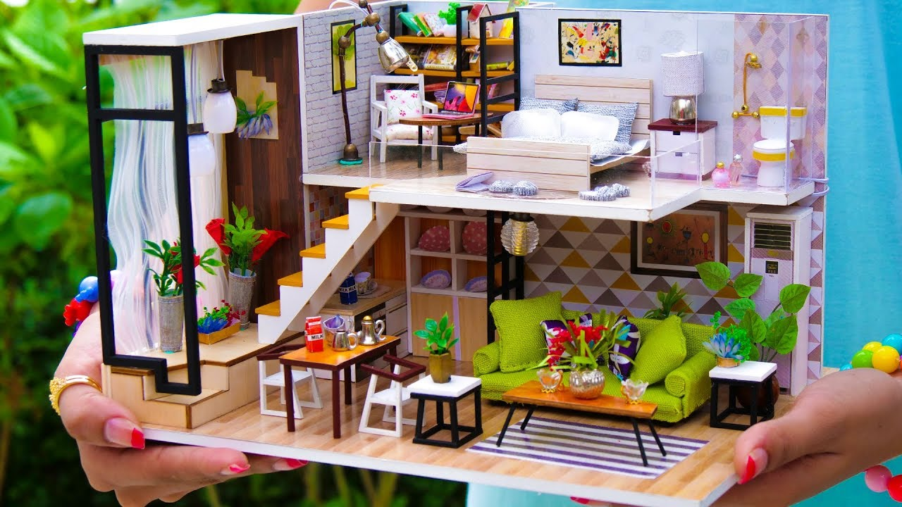 5 Diy Miniature Doll House Rooms 2 Youtube