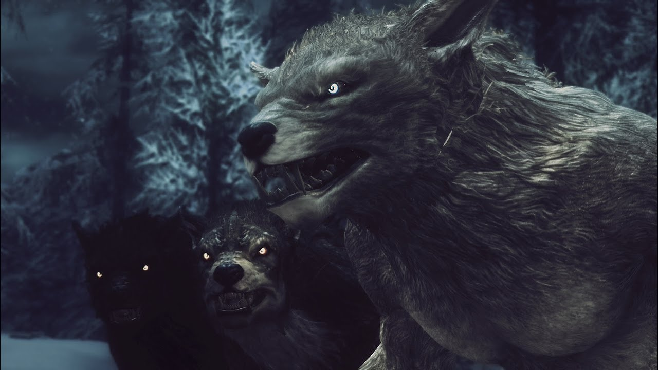 tes v skyrim gameplay habilidades del hombre lobo hd