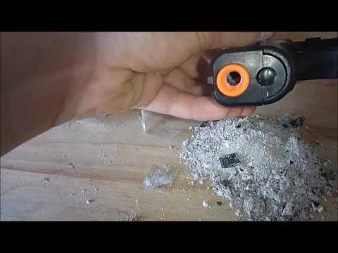 How to make a gun blank out of an airsoft gun super cheep and easy