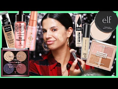 TONS OF NEW DRUGSTORE MAKEUP TESTED... is it worth it?