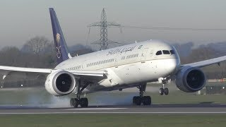 50 Landings in 25 Minutes: A380, 747, A350, 787, 777, A330, 767, 757, A321, A320 Manchester Airport