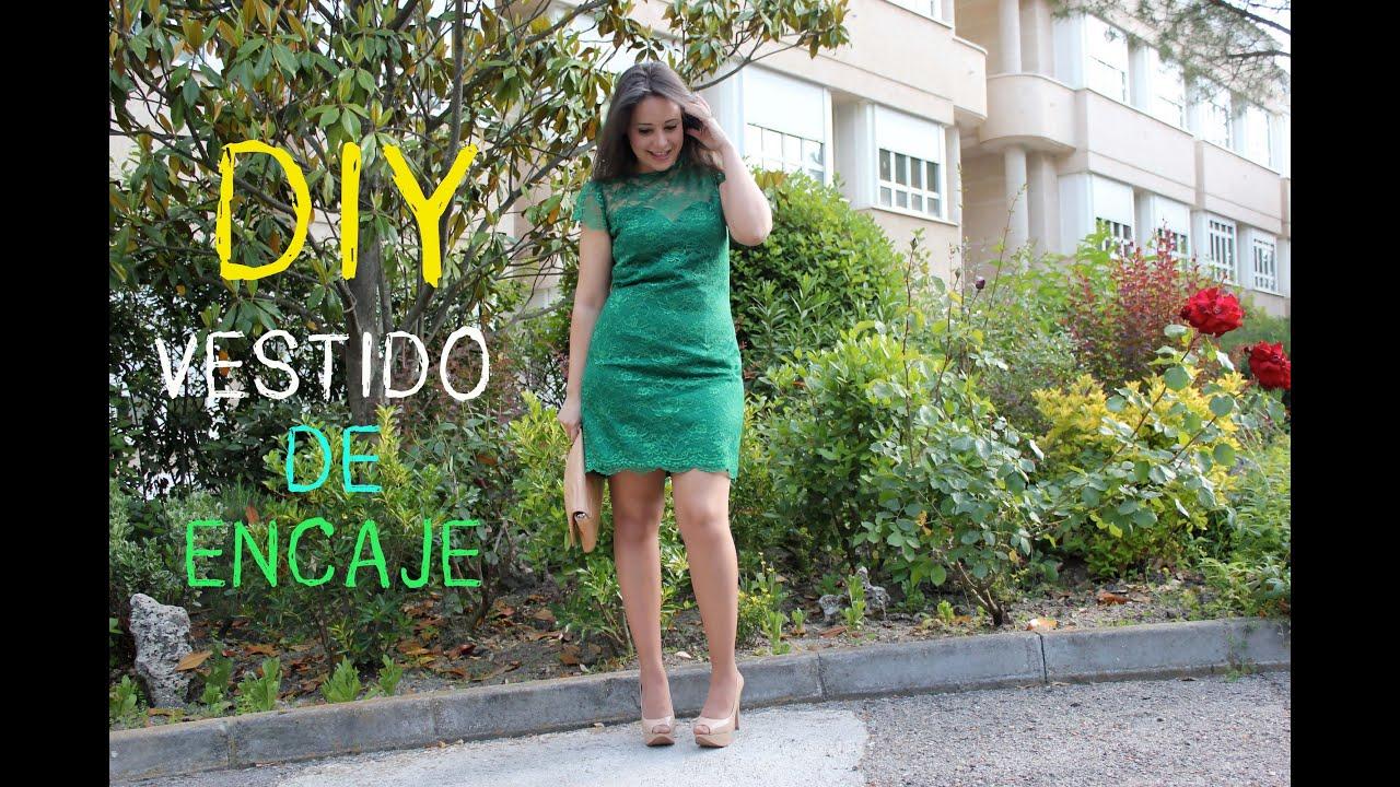 3fd70d177 DIY Costura  Como hacer vestido de encaje escote de corazón - YouTube