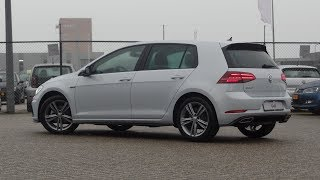 Volkswagen NEW Golf GP 2018 R Line White Silver 17 inch Sebring Walk around & Inside detail