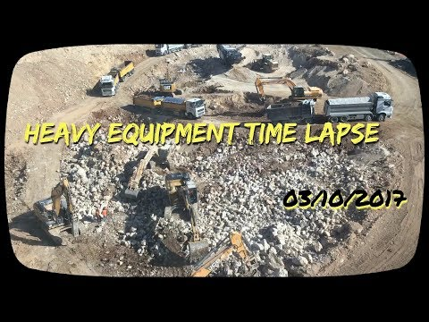 Heavy Equipment Time Lapse , Jerusalem 171003