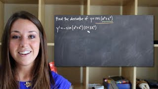 Chain rule for derivatives, with trig functions