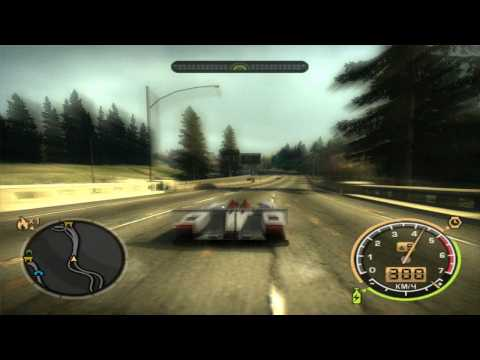 NFS Most Wanted Audi R10 TDI gameplay + 421KM/H