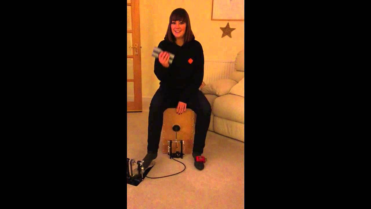 caj n with bass drum pedal youtube. Black Bedroom Furniture Sets. Home Design Ideas