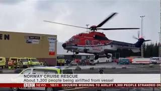 Viking Star passenger eyewitness account of rescue from  Standed Cruise Liner