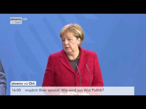 Staatspräsident Mahammadu Buhari: Pressekonferenz mit Bundeskanzlerin Angela Merkel am 14.10.2016