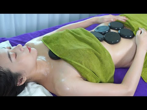 Burning Belly Fat By Hot Stone Massage Oil