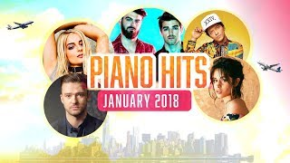 Piano Hits Pop Songs January 2018 : Over 1 hour of Billboard hits - music for classroom ,studying Video