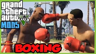 GTA V PC MODS: BOXING Match mini game at Vespucci Beach