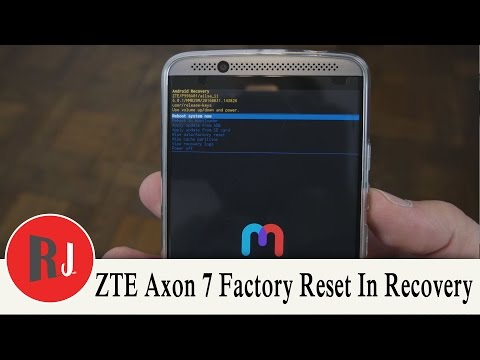 How to Factory Reset the ZTE Axon 7 In Stock Android Recovery
