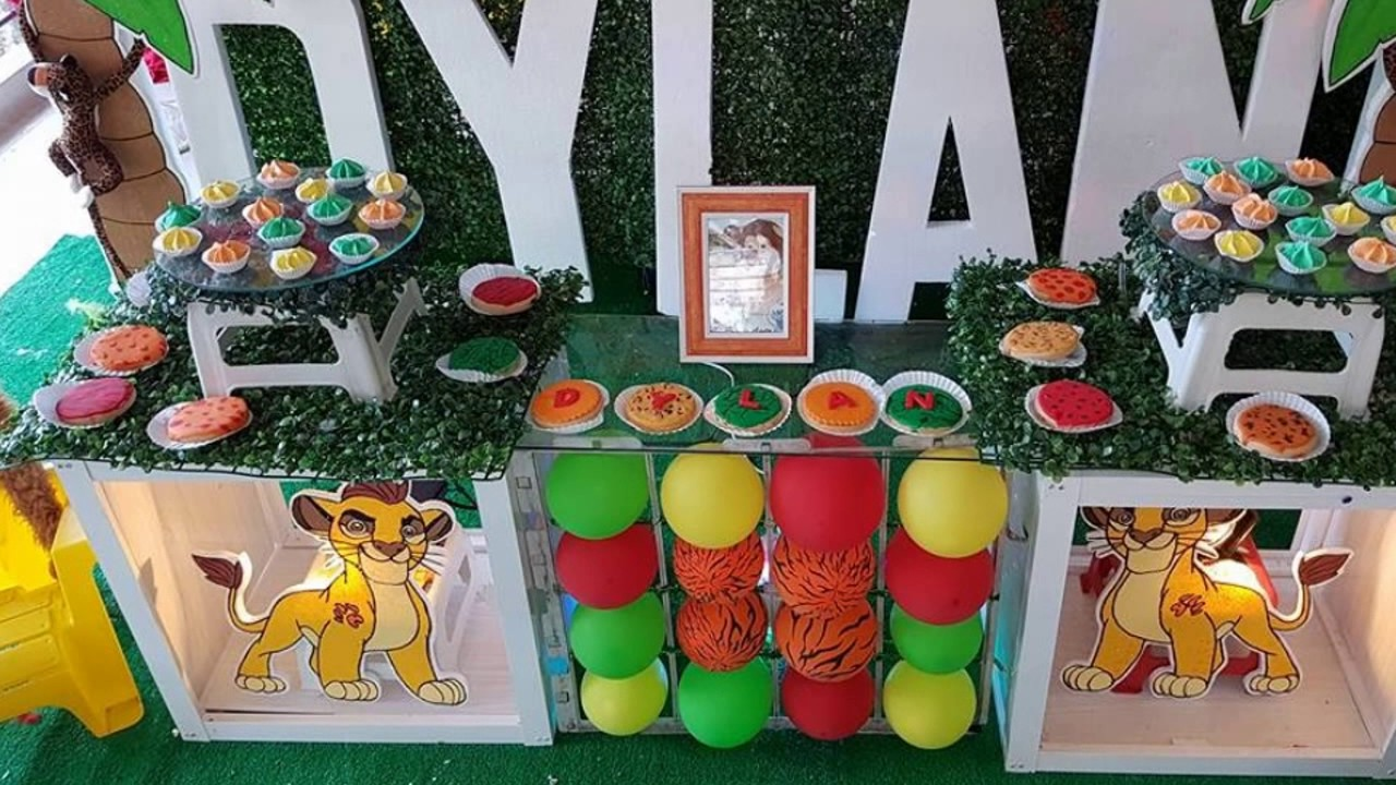 Decoracion fiesta infantil leon de la guardia youtube - Decoracion fiestas infantiles ...