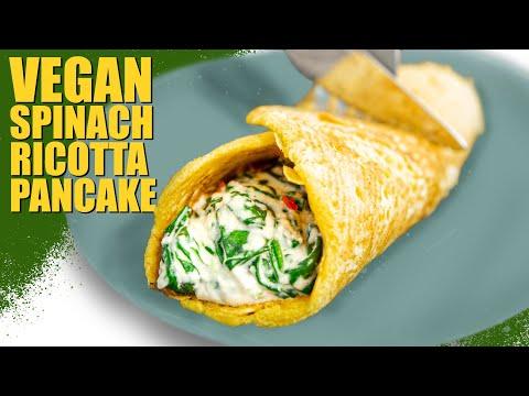 vegan-spinach-ricotta-pancake-|-easy-vegan-recipe