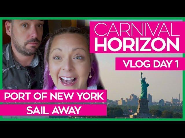 Carnival Horizon   Boarding, Havana Cabana Cabin Tour and NYC Sail Away   Cruise Vlog Day 01