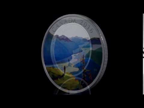 1 oz. Pure Silver Coloured Coin – Canadian Landscape Series: Reaching the Top (2016)