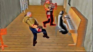 Mr meat stealing Slendrina baby funny animation   Granny vs Grandpa vs Mr meat